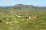 Traditional Village on Hill around Antsirabe  Madagascar  Africa