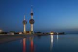 Kuwait Towers at Dawn  Kuwait City  Kuwait  Middle East