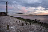 The Humber Bridge at Dusk  East Riding of Yorkshire  Yorkshire  England  United Kingdom  Europe