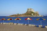 Beach on Kefalos Bay Looking Out to Kastri Island  Kos  Dodecanese  Greek Islands  Greece  Europe