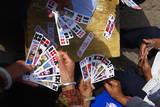 Naxi Women Playing a Local Game of Cards  Lijiang  Yunnan  China  Asia
