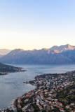 Kotor at Dawn  Bay of Kotor  UNESCO World Heritage Site  Montenegro  Europe