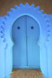 Traditional Blue Painted Door  Chefchaouen  Morocco  North Africa  Africa