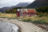 Two Old Boat Sheds  Balsfjord  Troms  North Norway  Norway  Scandinavia  Europe