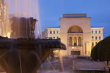 National Theatre and Opera House in Piata Victoriei at Dusk  Timisoara  Banat  Romania  Europe