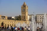 Clock Tower in Shar Park  Erbil  Kurdistan  Iraq  Middle East