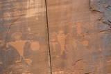Indian Pictographs  Potash Road  Near Moab  Utah  United States of America  North America