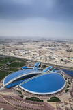 View of Aspire Sports Center  Doha  Qatar  Middle East