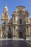 Cathedral from Plaza Cardinal Belluga  Murcia  Spain  Europe