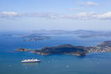 Queen Mary Ii Visits the Bay of Islands  Northland  North Island  New Zealand  Pacific