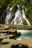 Waterfall in Xiaoqikong Rain Forest  Guizhou Province  China  Asia