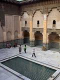 Intricate Islamic Design at Medersa Ben Youssef