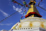 Boudha (Bodhnath) (Boudhanath) Tibetan Stupa in Kathmandu  UNESCO World Heritage Site  Nepal  Asia