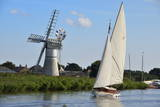 Sailing Boat in Front of Thurne Dyke Drainage Mill