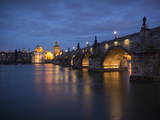 Charles Bridge and River Vltava  Prague  UNESCO World Heritage Site  Czech Republic  Europe