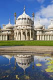 Brighton Royal Pavilion with Reflection  Brighton  East Sussex  England  United Kingdom  Europe