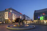 Slovak National Theatre and Sheraton Hotel at Dusk  Bratislava  Slovakia  Europe