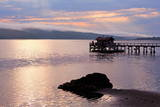 Nick's Cove Pier in Tomales Bay  California  United States of America  North America