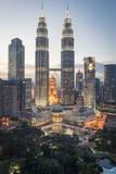 Petronas Towers and Klcc  Kuala Lumpur  Malaysia  Southeast Asia  Asia