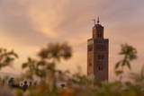 The Minaret of the Koutoubia Mosque at Dawn