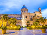 Palermo Cathedral (Duomo Di Palermo) at Night  Palermo  Sicily  Italy  Europe