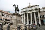 Statue of Giuseppe Garibaldi in Front of the Theatre Carlo Felice