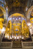 Gold Mosaics in the Palatine Chapel (Royal Chapel) at the Royal Palace of Palermo (Palazzo Reale)