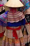 Flower Hmong Ethnic Group at Can Cau Market  Bac Ha Area  Vietnam  Indochina  Southeast Asia  Asia