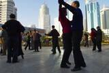 Morning Exercise  People Square  Kunming  Yunnan  China  Asia