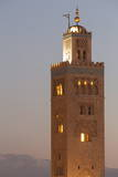 The Minaret of the Koutoubia Mosque  UNESCO World Heritage Site  at Dusk