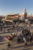 Long Shadows in the Busy Square of Place Jemaa El-Fna