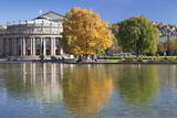 Staatstheater (State Theatre) and Schlosspark in Autumn