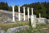 Columns in the Ancient Greek City of Asklepieion  Kos  Dodecanese  Greek Islands  Greece  Europe
