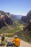 View from Angels Landing  Zion National Park  Utah  United States of America  North America