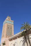 The Kasbah Mosque with Palm Trees  Marrakech  Morocco  North Africa  Africa