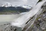 Nugget Falls at Mendenhall Glacier  Juneau  Alaska  United States of America  North America