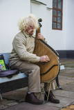 Man Playing the Traditional Bandura Instrument  St Sophia«S Cathedral  Kiev  Ukraine  Europe