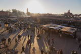 Evening Light on the Busy Square of Place Jemaa El-Fna