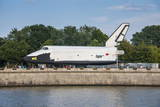 Buran Space Shuttle Test Vehicle in the Gorky Park on the Moscow River  Moscow  Russia  Europe