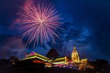 Fireworks Celebrating Chinese New Year  Kek Lok Si Temple  Penang  Malaysia  Southeast Asia  Asia