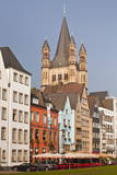 The Tower of the Great Saint Martin Church and the Old Town of Cologne