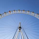 The London Eye on a Bright Sunny Day  London  England  United Kingdom  Europe