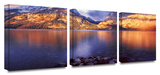 Jenny Lake sun rise 3-Piece Canvas Set