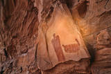 A Panel Commonly Called 'The Moqui Queen ' a Barrier Canyon Style Human Figure Pictograph