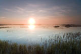 Wetlands on the Coastal Plains of the Arctic National Wildlife Refuge at Sunrise