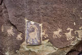 Petroglyph Damaged by a Person Trying to Remove It