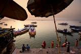 Morning Bathing in the Ganges in Varanasi  India