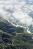 An Aerial View of the Coastline and Highway 1 Below Pacifica