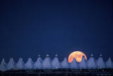 Moonrise over Denver International Airport