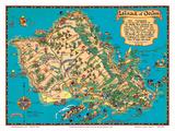 Hawaiian Island of Oahu Map
